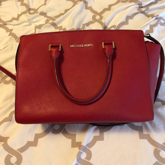 c4524caa38d7 MICHAEL KORS Selma Saffiano Leather Medium Satchel.  M 5bf1e27ebb76158401430b5d. Other Bags you may like